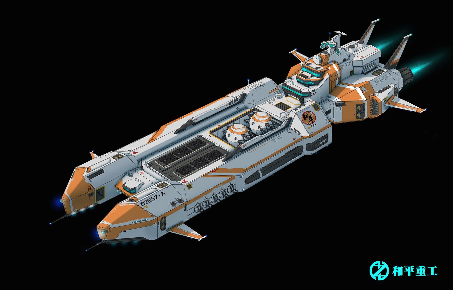 ArtStation scifi ship design, Shantaram 05