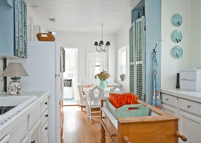 The Old Shutters Repurposed As Cabinet Doors Dig The Color Too