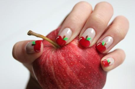 Apple Nail Art Nail Art Ideas Pinterest