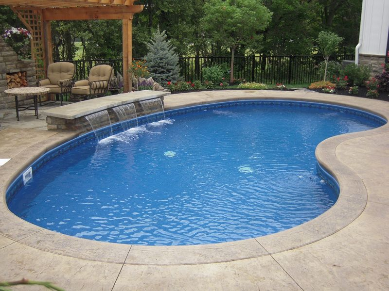 extraordinary concrete coping swimming pool with vinyl liner inground pool kits also outdoor stone fireplace ideas - Inground Pool Patio Ideas