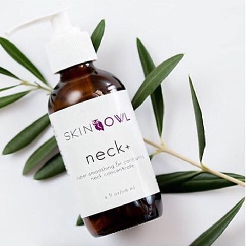Coming very soon to our shop: Neck+ by SkinOwl!  A symphony of healing herbs, restorative plant and flower compounds, an Ocean Mineral Complex in a super concentrated, bio-available delivery system. Annies first ever super-smoothing & contouring neck concentrate made with superstar age-defying ingredients to create a smooth, youthful and contoured neck and décolleté. Skin looks smooth, supple, and quenched, with dark spots & crease marks visibly reduced.