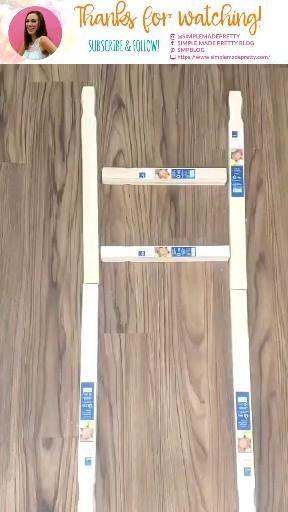 Farmhouse ladder tutorial - Farmhouse ladder video