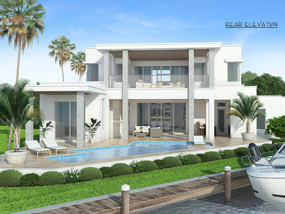 Plan 7BW: Contemporary House Plan with Upstairs and Downstairs