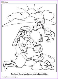 Coloring Good Samaritan Kids Korner BibleWise MDO