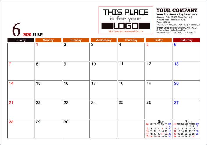 Template Kalender Meja 2021 Pdf - Celoteh Bijak