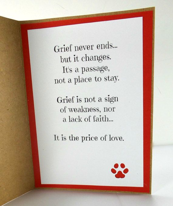 Dog Condolences Card - Sympathy Card - Dog Sympathy Card - Dog