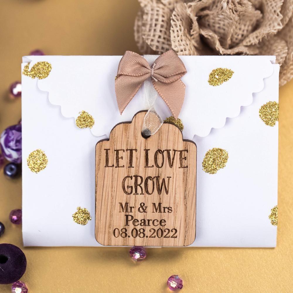 Let Love Grow Wedding Seed Garden Plant Flowers
