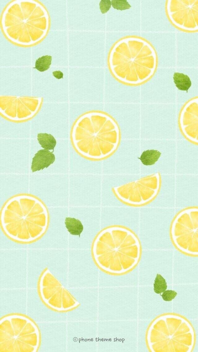 Cute Lemon Cute Patterns Wallpaper