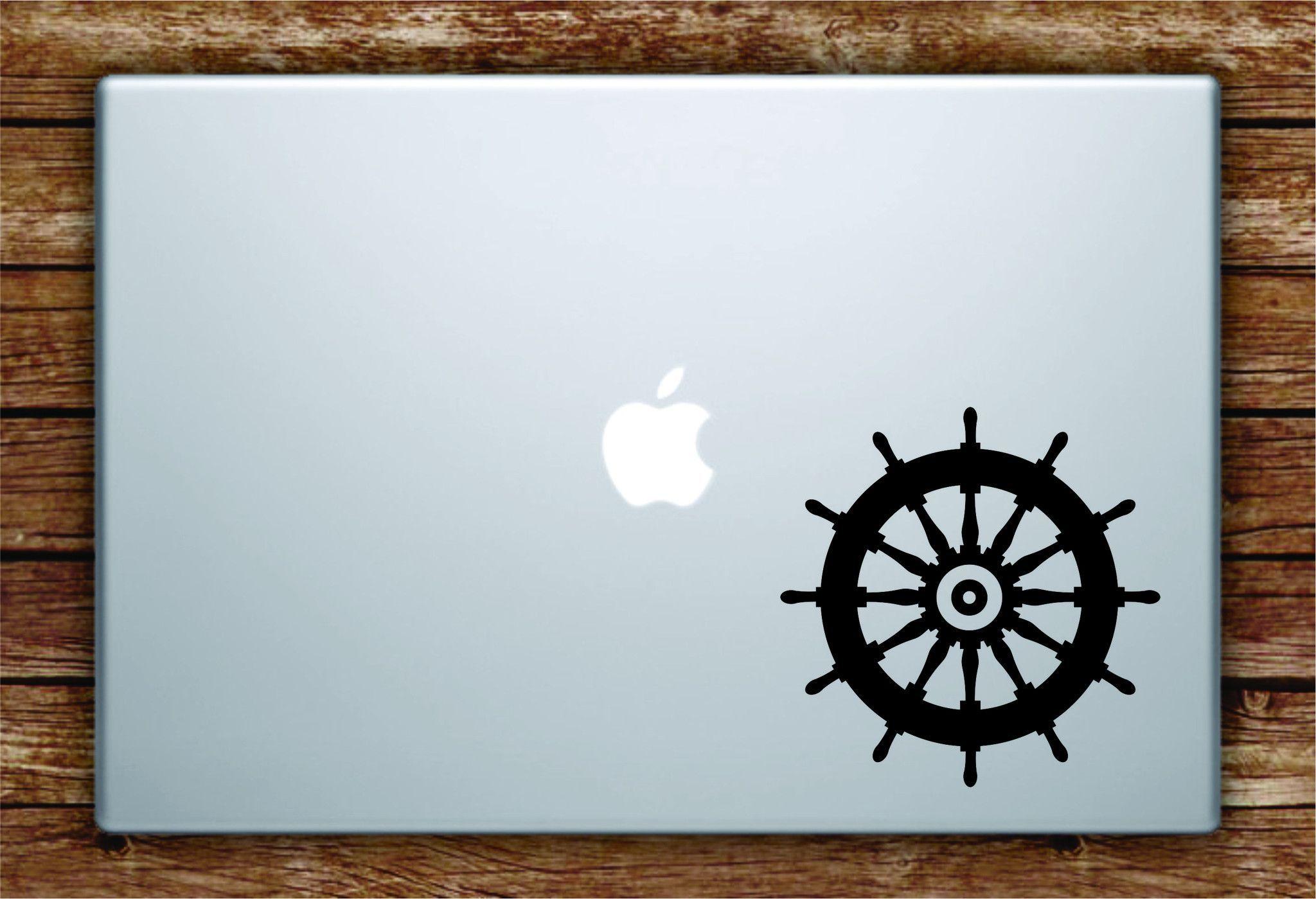 Boat Steering Wheel Laptop Decal Sticker Vinyl Art Quote Macbook