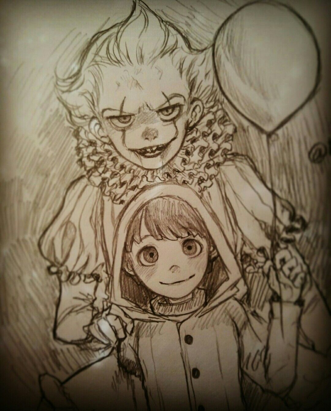 Evil And Sweet Horror Drawing Character Art Movie Art