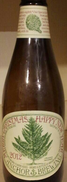 Anchor Brewing Our Special Ale Merry Christmas Happy New Year 2012 Anchorbeer