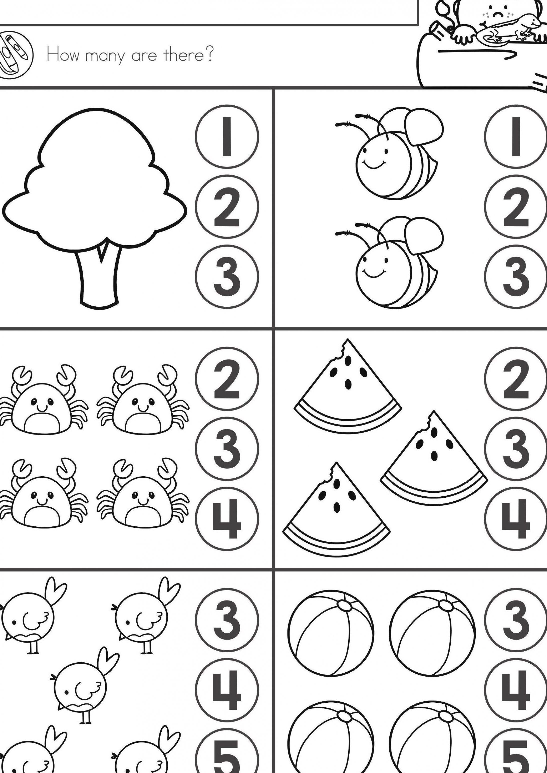 Summer Review Kindergarten Math Literacy Worksheets