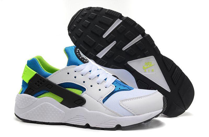 3962921da01ea nike air huarache mens white blue green shoes cheap sale Nike Running Shoes  Women