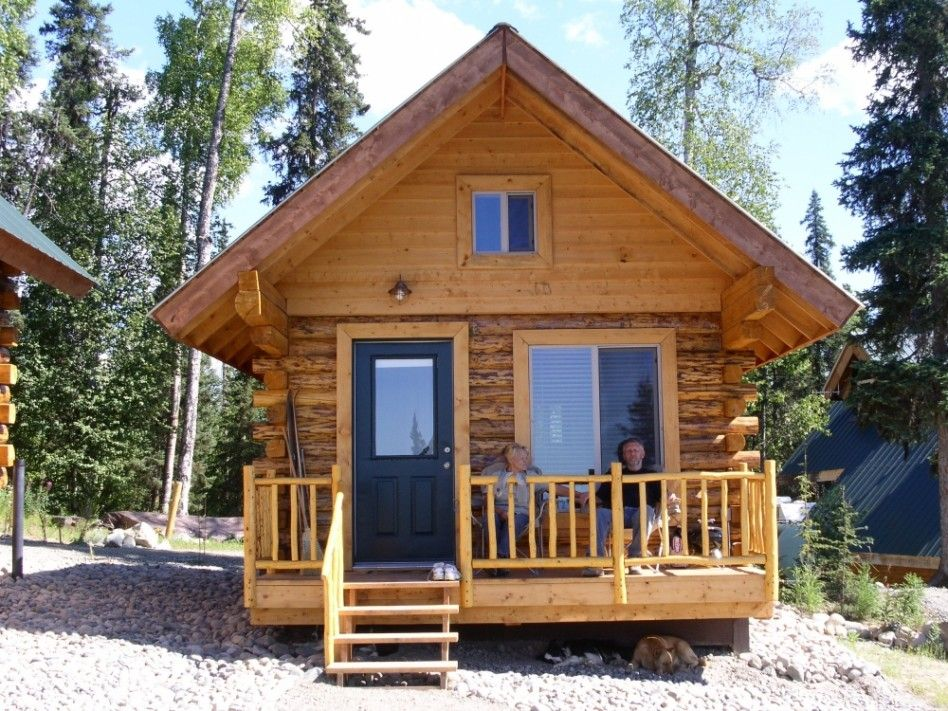 Architecture Alaska Cabinwith Wood Material Tiny House