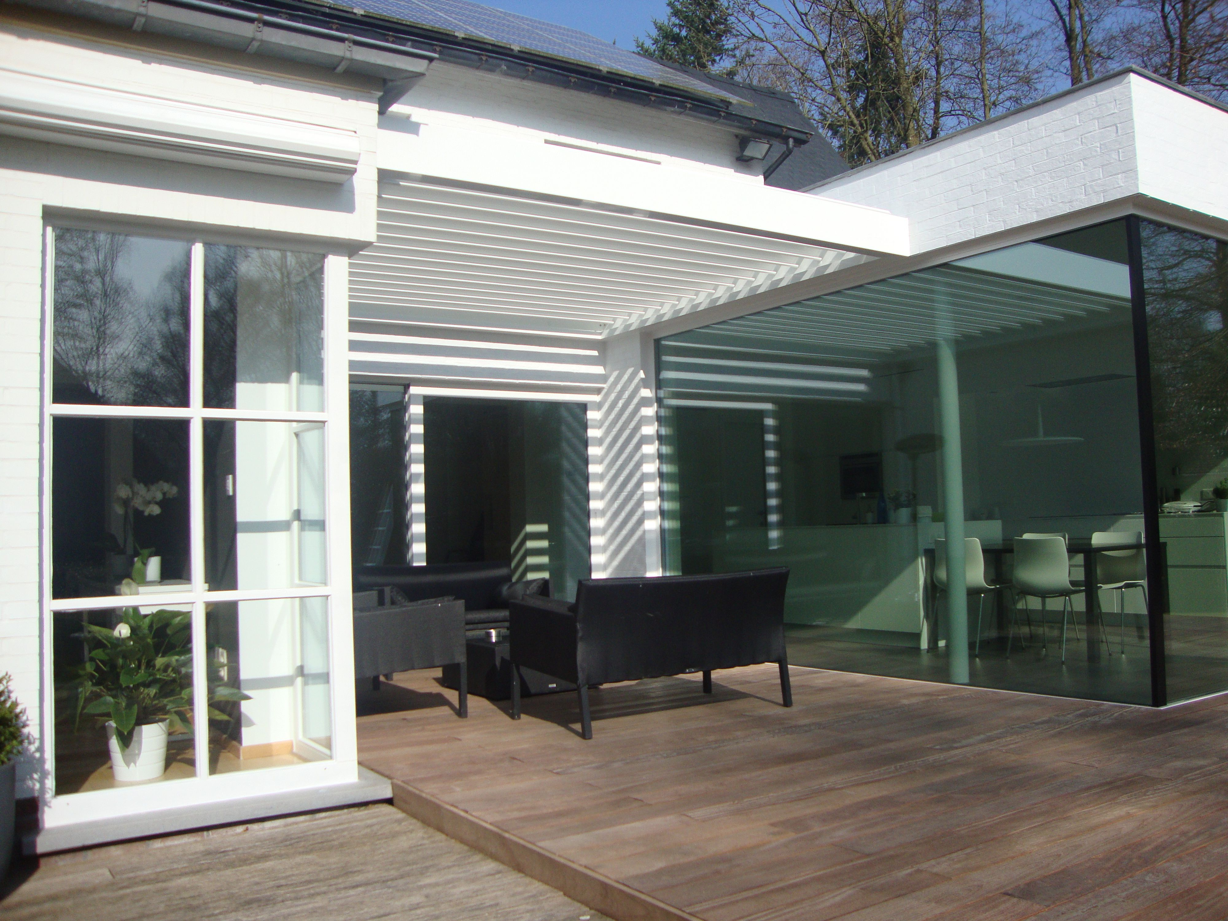 Algarve roof terrace cover renson outdoor louvered
