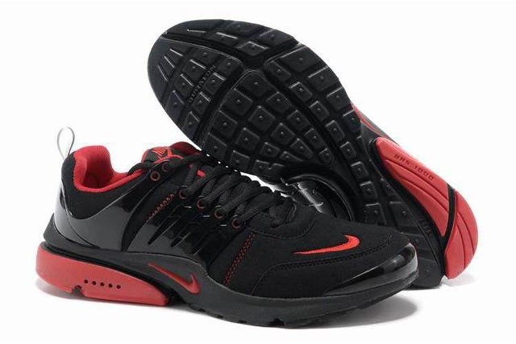 Nike Air Presto V5 Leder Manner Schuhe Schwarz Rot Nike Air Presto Shoes Nike Air Presto Mens Nike Shoes