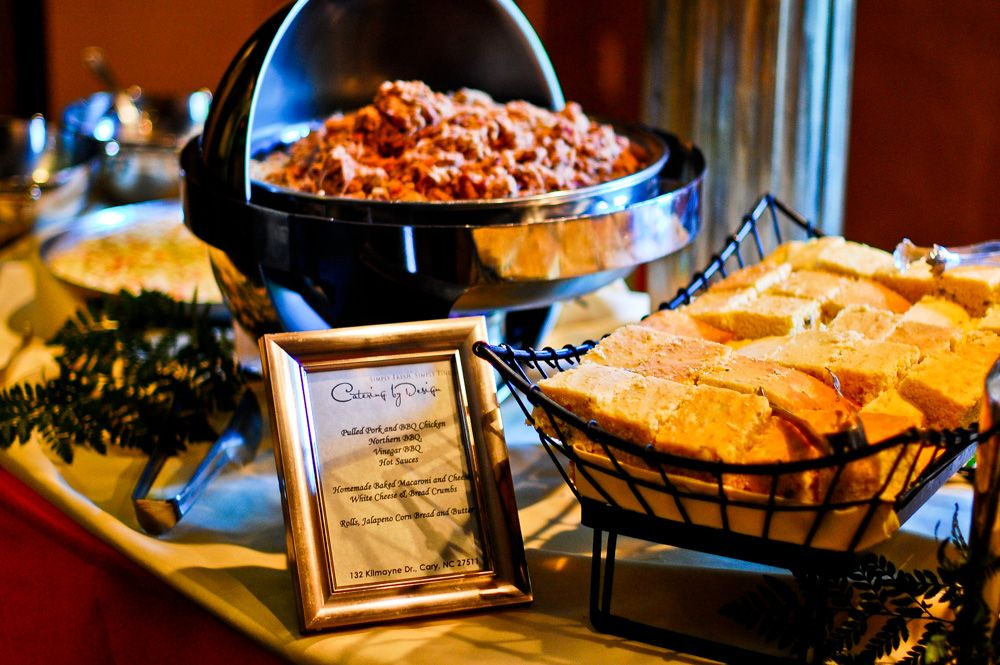 Barclay Villa Angier Nc Wedding Venue Catering By Design Is The Best Caterer In North Carolina Pulled Pork And Cornbread Station
