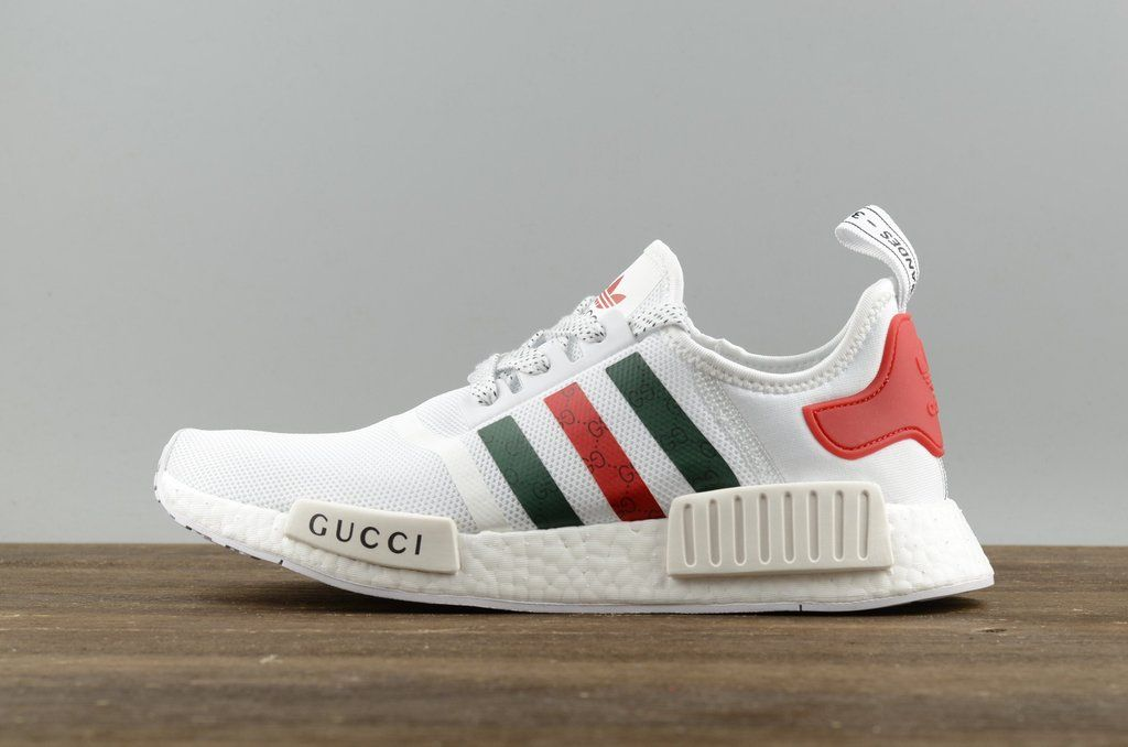 reputable site 7b4a8 0a232 adidas NMD R1 x Gucci White Red S70162