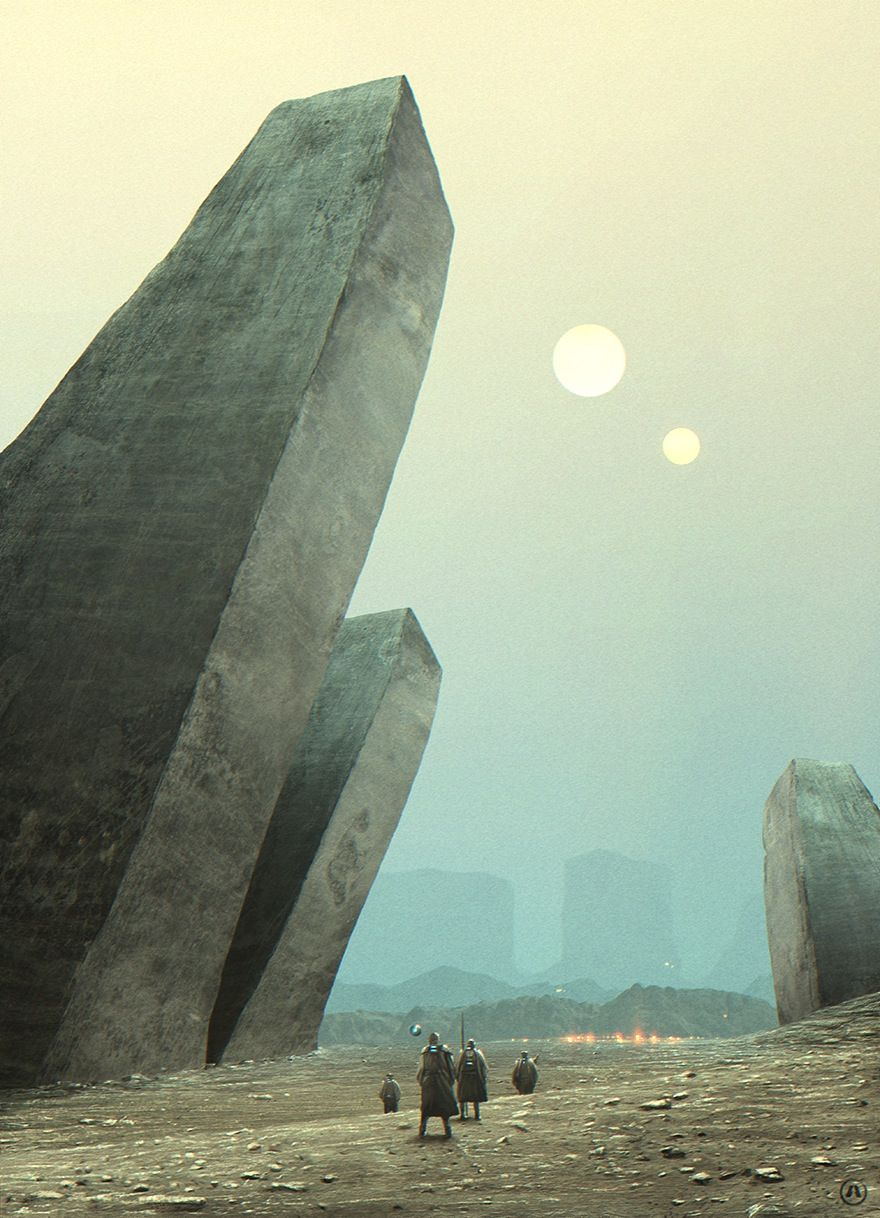 Fantasy Art Black Obelisk