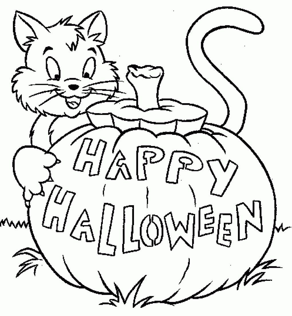 15 Printable Halloween Coloring Pages Holiday Vault Halloween Tekeningen Halloween Halloween Foto S