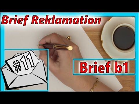 Brief Reklamation B1 Schriftliche Prüfung B1 Youtube Prüfung