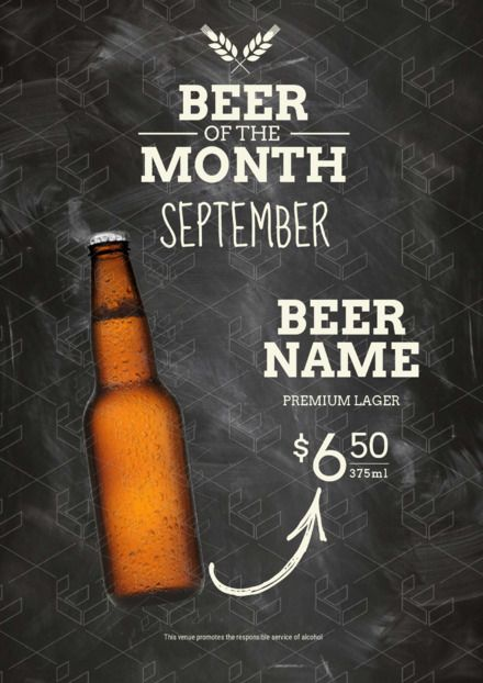 217ca4083c7 Beer of the Month Flyer - DIY Drinks and Cocktail Templates - Drinks Poster  - Hospitality Poster