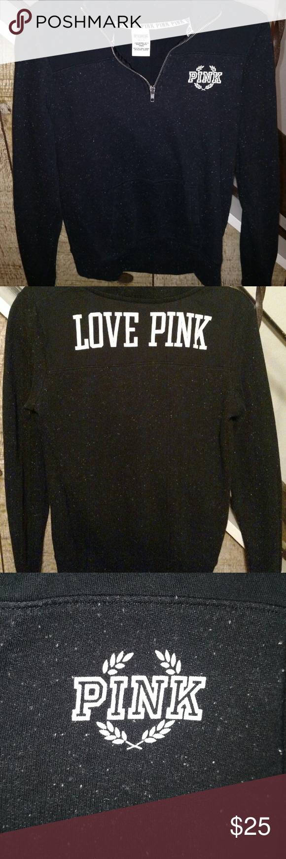 VS PINK Quarter Zip Pullover Hoodie | vs Pink, Pullover and White ...