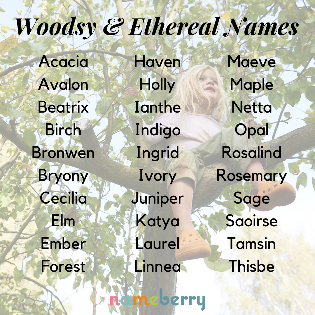 Woodsy and ethereal baby names #babynames