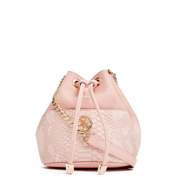 GUESS Exotic Mini Bucket Bag (€58) ❤ liked on Polyvore featuring bags f14854138ed00