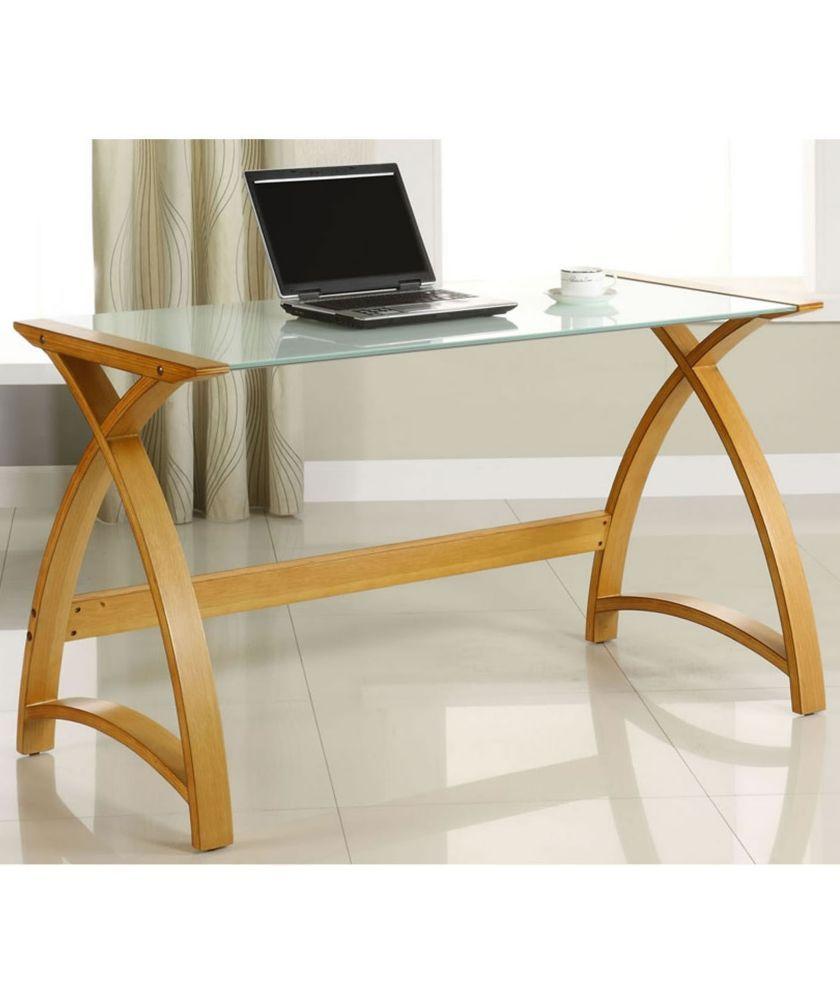 Buy Curve 2 Laptop Home Office Desk - Oak Effect at Argos.co.uk ...