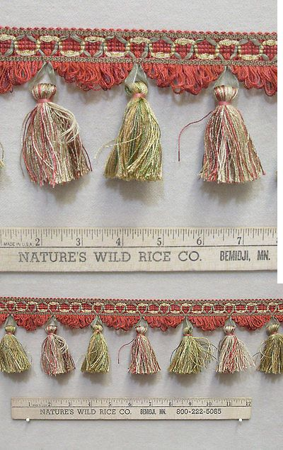 Tassels 183272: Fancy Tassel And Ribbon Trim Shades Red Olive Green Gold Pink 542 Long Sewing -> BUY IT NOW ONLY: $151.99 on eBay!
