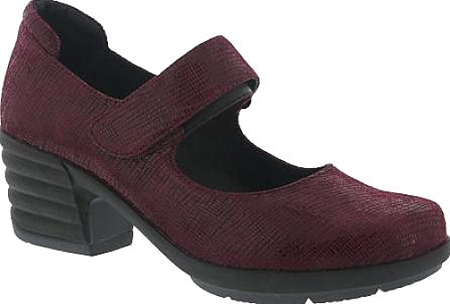 Sanita Clogs Icon Commuter Mary Jane in Burgundy Printed Suede. Sanita  Clogs Women's Shoes ...