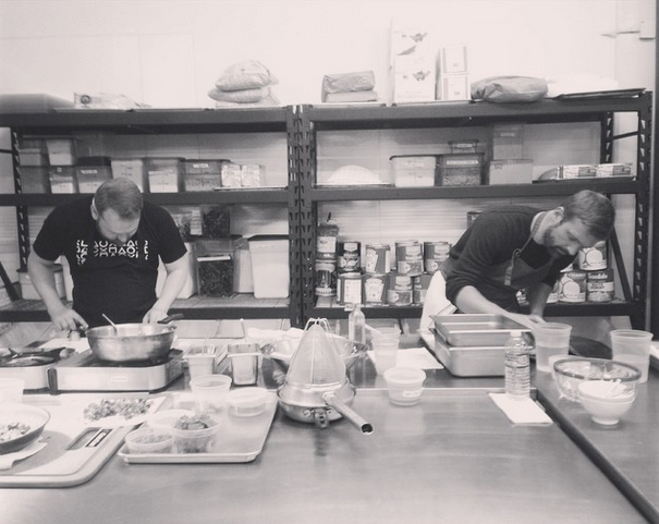 Chef Tommy & Chef Alan in the kitchen