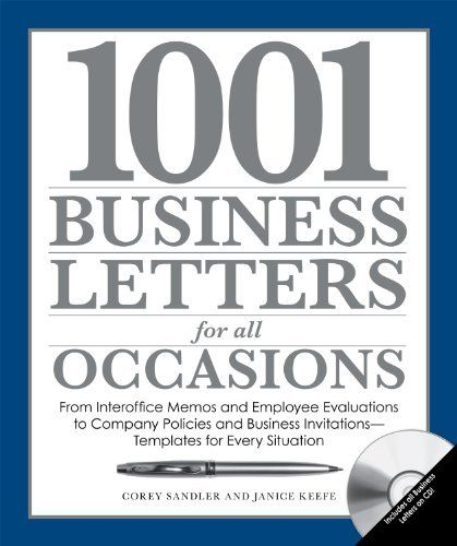 1001 Business Letters for All Occasions From Interoffice Memos - employee evaluations