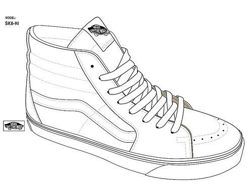 Image result for sk8 hi drawing | Template | Dibujo