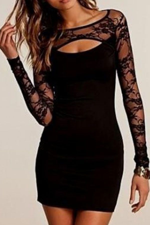 2017 Sexy Lace Homecoming Dress Tight Short Cocktail Dresslong