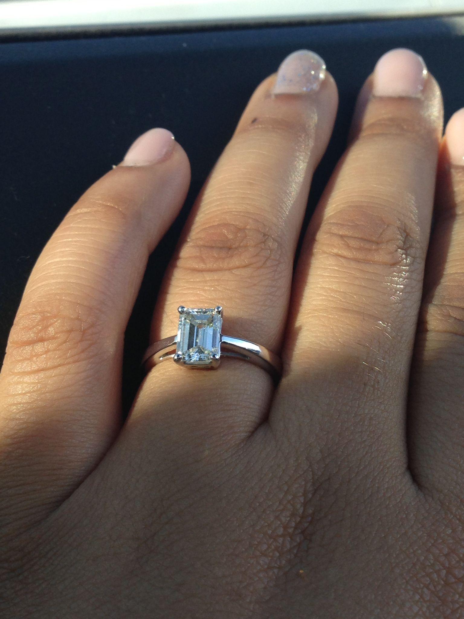 Simple, elegant, timeless. My dream engagement ring.