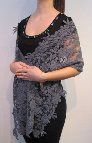 Evening shawls cape wraps for women with a bit of shine look ...