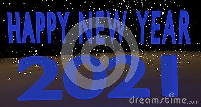 blue hue 2021 happy new year background banner