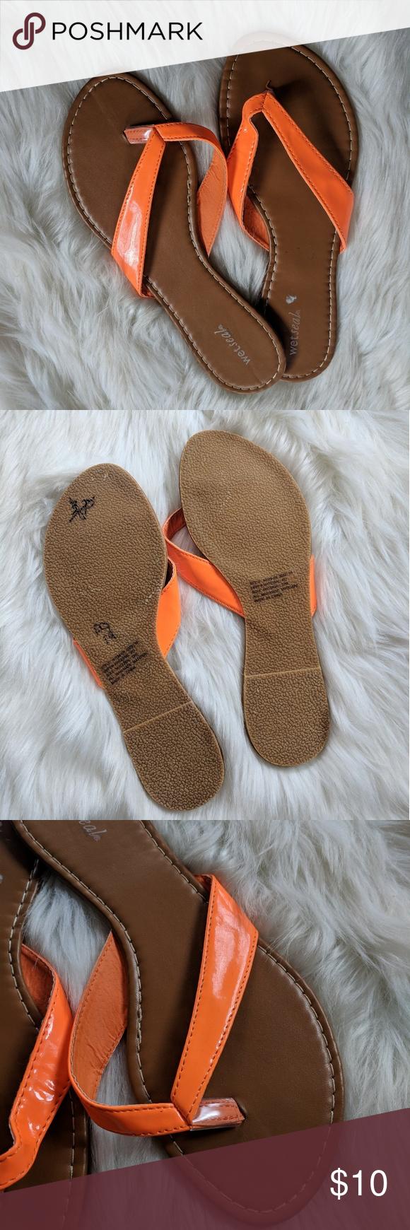 Wet Seal Orange Flip-Flops  Orange Flip Flops, Wet Seal -6010