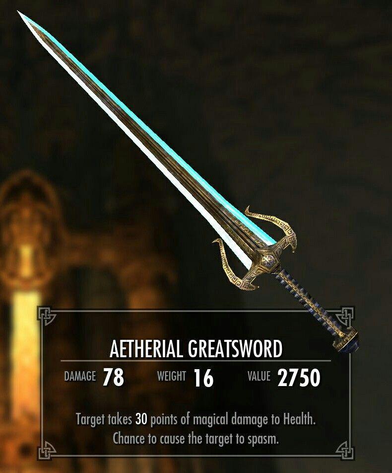 Aetherial greatsword mod   Swords in 2019   Skyrim swords, Sword