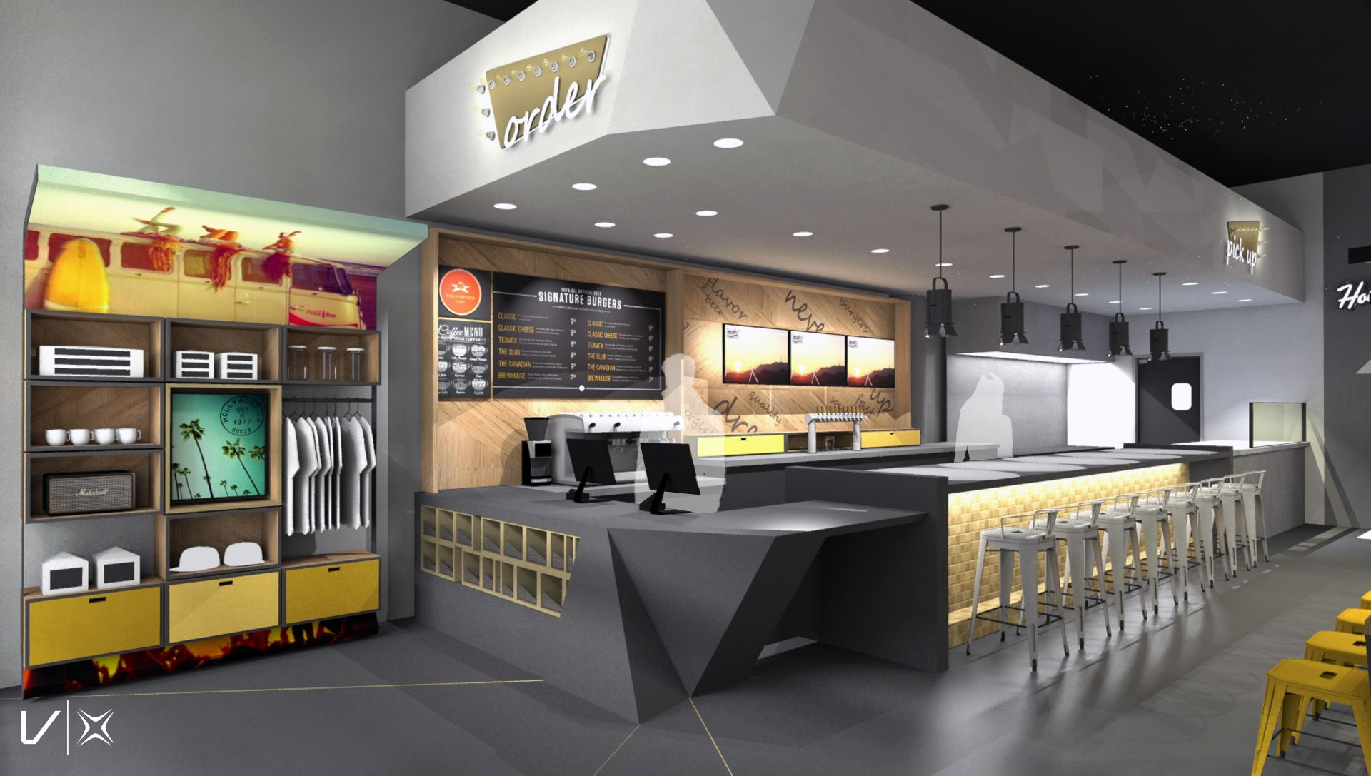 Image result for fast casual restaurant interior design