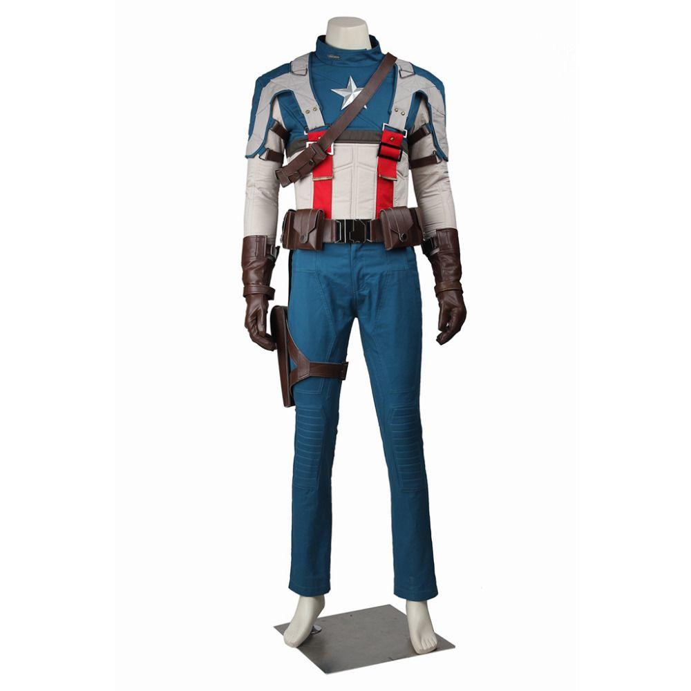 Captain America Cosplay Captain America: The First Avenger Steve Rogers  Captain America Costume Halloween Costume