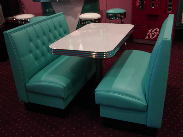 Our Vegas Diner Booth set comes with two diner booth benches  custom booth  table  and table base  Check out of diner booth selection Diner Booth Sets  50 s  Retro  Home  Restaurant  Kitchen  Corner  . Dining Room Booth Set. Home Design Ideas