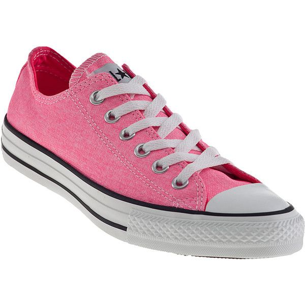 Star Sneakers Neon Pink Canvas