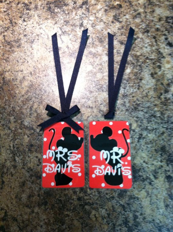 Mr. & Mrs. Luggage tags Mr./Mrs. Mouse by ColstonAndCompany