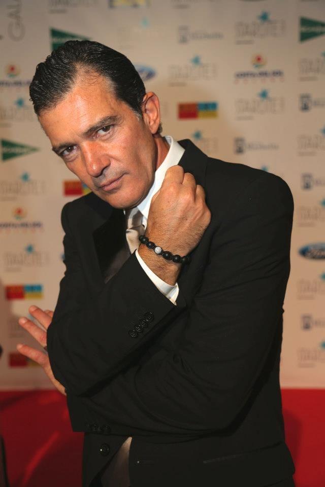 Antonio Banderas Wears The Auetuil Black Diamond Bracelet Set In Sterling Silver W White Crys Famous Fashion Favorite Celebrities Latest Mens Fashion