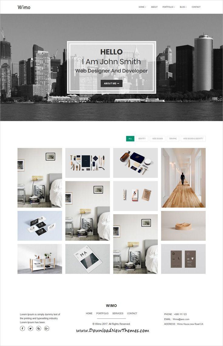Wimo - Minimal Portfolio Template   Minimal, Template and Creative ...