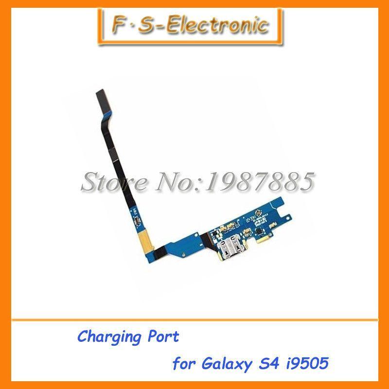 10pcs/lot Flex Cable Ribbon Charging Port Dock Connector USB Socket for Samsung Galaxy S4 GT i9505 i9500 i337 Charging Flex