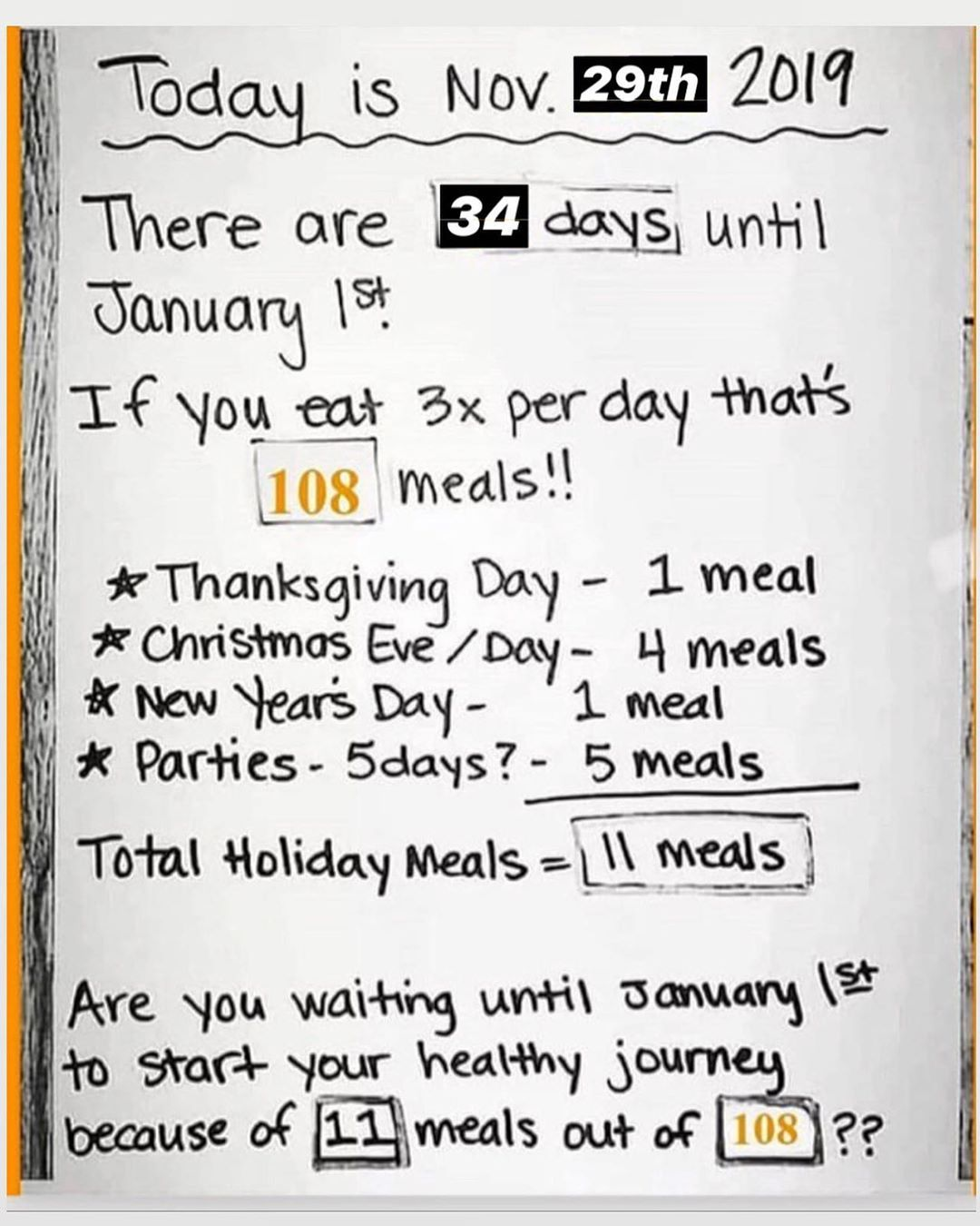 Don't wait until the new year to start your New Years Resolution! DO NOT let the... #bhfyp #cleaneat...